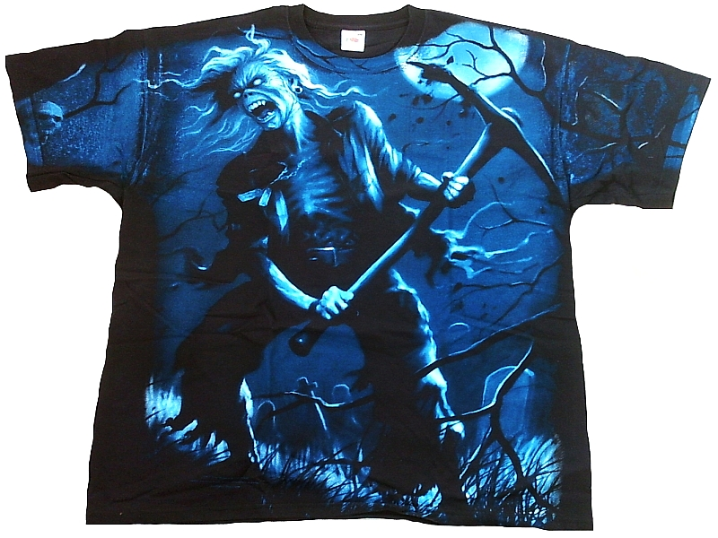 RARE Official Iron Maiden Benjamin Breeg All Over Print Heavy Metal T